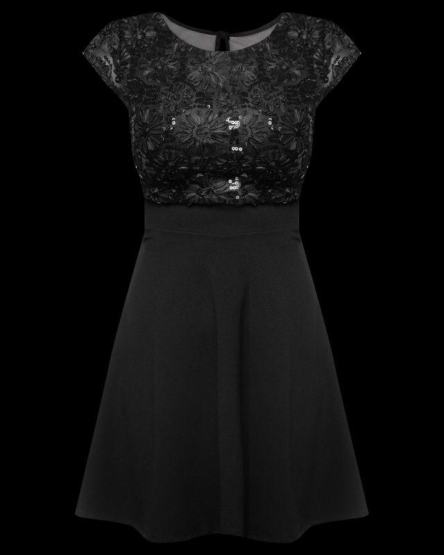 Черное платье для нового года