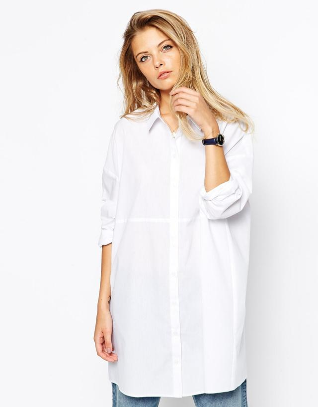 Как носить белую рубашку-блузку
