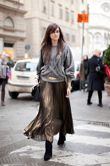 Вязаное платье зимой