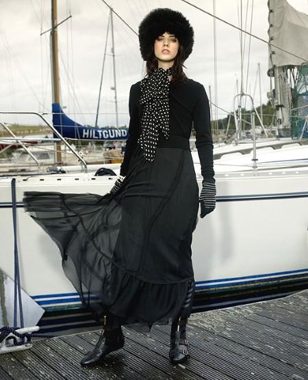 Длинное платье зимой