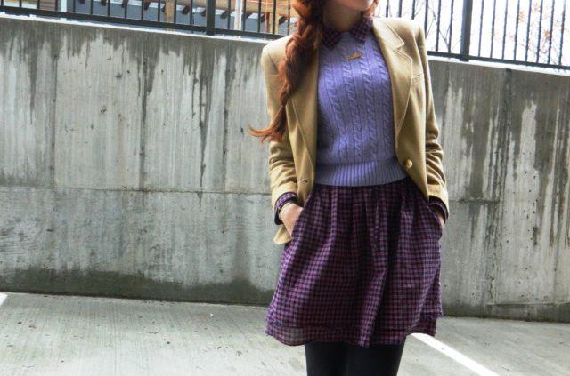 С чем носить мини юбку зимой