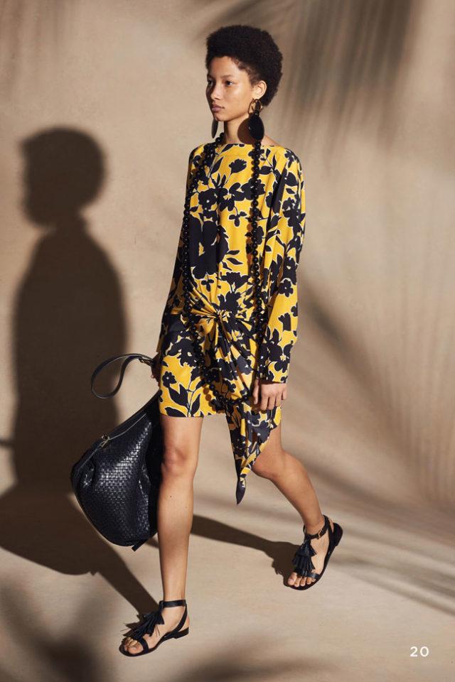 Модный цвет - жёлтый 2018